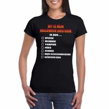 Halloween halloween pak lijstje t shirt zwart dames