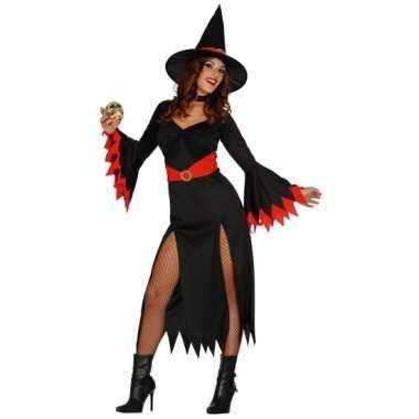 Halloweenpak heksen enge jurk dames