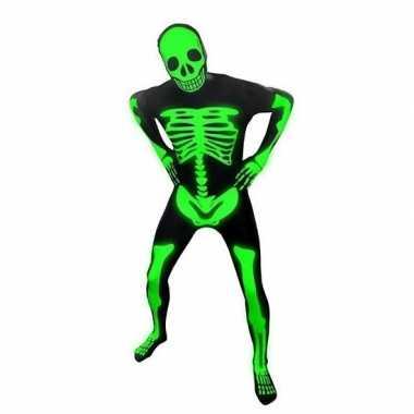 Skelet Voor Halloween.Morphsuit Pak Skelet